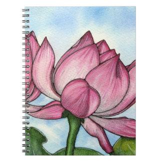 Cuaderno de la flor de Lotus