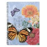 Cuaderno de la flora de la mariposa del vintage…