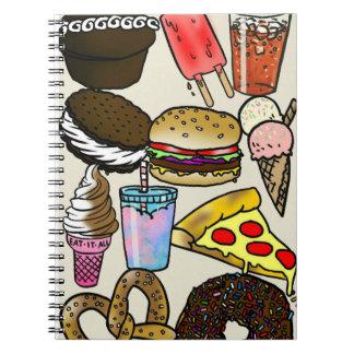 Cuaderno de la foto de Junk Food