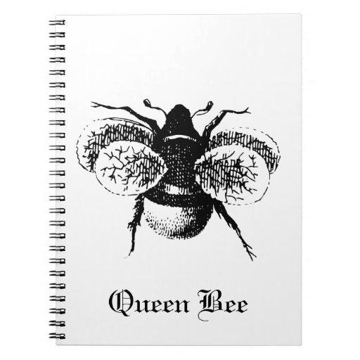 Cuaderno de la foto de la abeja reina