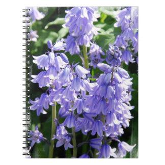 Cuaderno de la foto de la flor de Bell