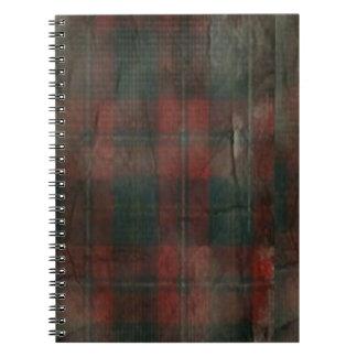 """""""Cuaderno de la foto de la tela escocesa del Grung Libretas Espirales"""