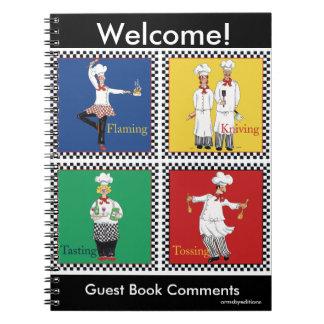 Cuaderno de la foto de los cocineros