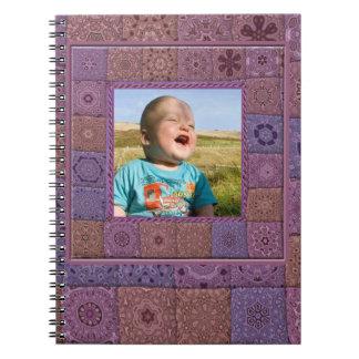 Cuaderno de la foto del arte de Quilters