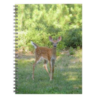 Cuaderno de la foto del cervatillo