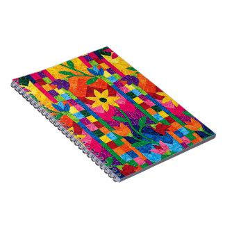 Cuaderno de la foto del edredón del girasol