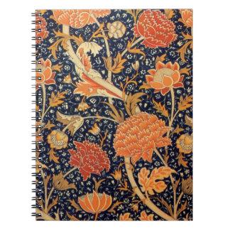 Cuaderno de la foto del estampado de flores de