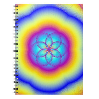 Cuaderno de la foto del flor de Lotus del arco