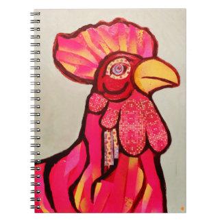 Cuaderno de la foto del gallo