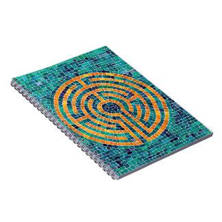 Cuaderno de la foto del mosaico II del laberinto