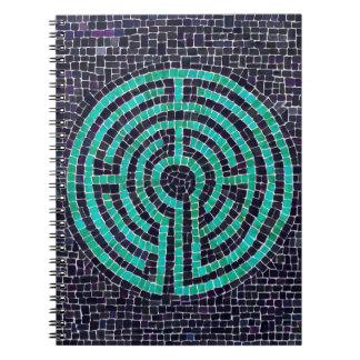 Cuaderno de la foto del mosaico III del laberinto
