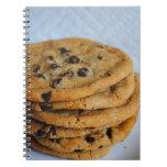 Cuaderno de la fotografía de las galletas de micro