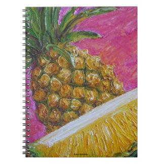 Cuaderno de la fruta tropical de la piña