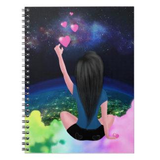 Cuaderno de la galaxia del arco iris