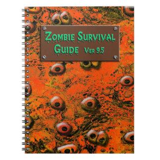 Cuaderno de la guía de supervivencia del zombi