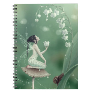 Cuaderno de la hada de la flor del lirio de los