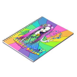 Cuaderno de la hada del Hippie de la paz del arco