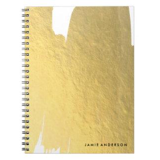 Cuaderno de la hoja de oro