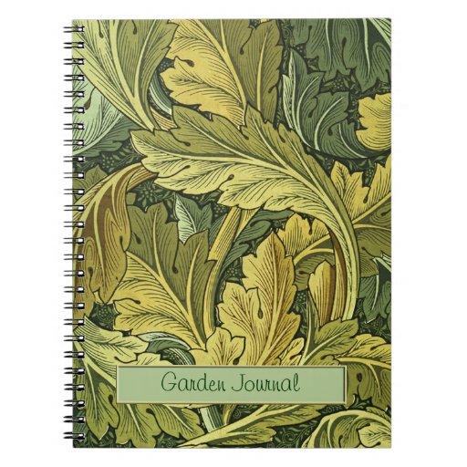 Cuaderno de la hoja del Acanthus de Nouveau del ar
