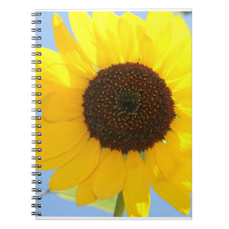 Cuaderno de la imagen del girasol