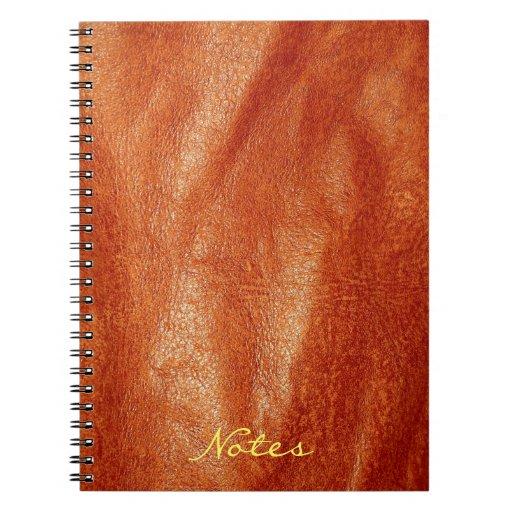 cuaderno de la imitación de cuero 7 del