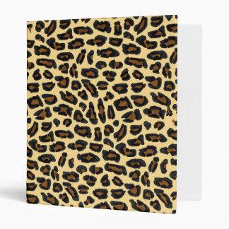 Cuaderno de la impresión de la piel del leopardo