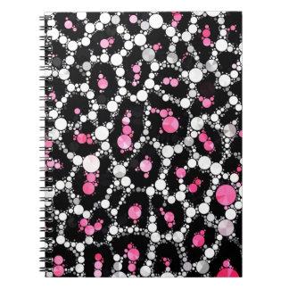Cuaderno de la impresión del guepardo de Bling