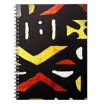 cuaderno de la impresión del paño del fango