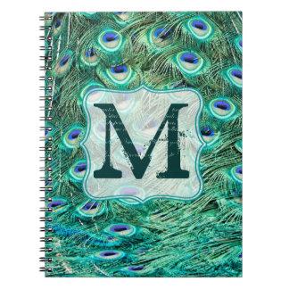 Cuaderno de la inicial del monograma de la pluma