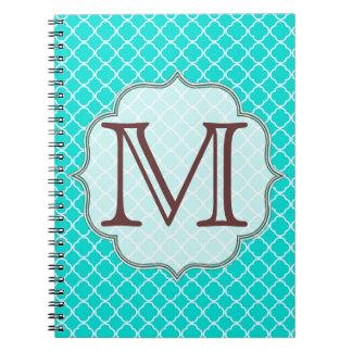 Cuaderno de la inicial del monograma de Quaterfoil