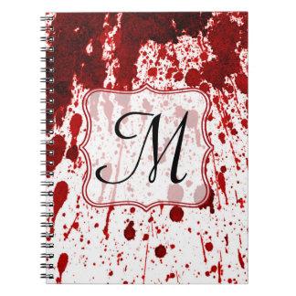 Cuaderno de la inicial del monograma del goteo de