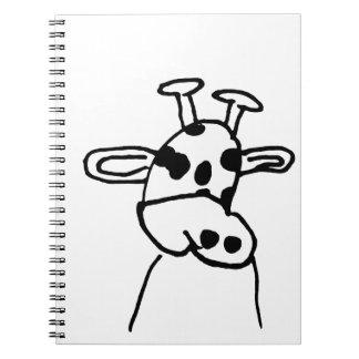 Cuaderno de la jirafa del arte de los niños