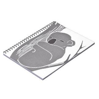Cuaderno de la koala el dormir