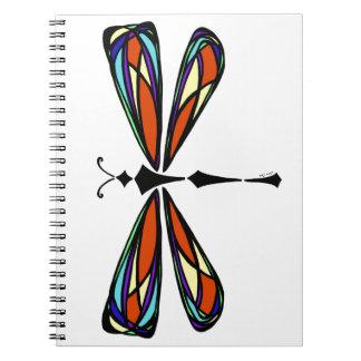 Cuaderno de la libélula del vitral