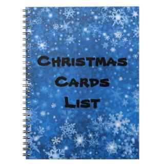 Cuaderno de la lista de personas a quienes se mand