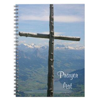 Cuaderno de la lista del rezo