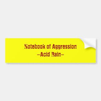 Cuaderno de la lluvia del Agresión-Ácido Pegatina Para Auto