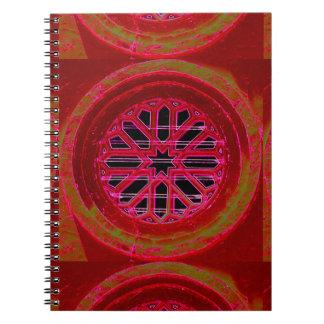 cuaderno de la mandala de la ventana
