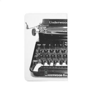 Cuaderno de la máquina de escribir del vintage del