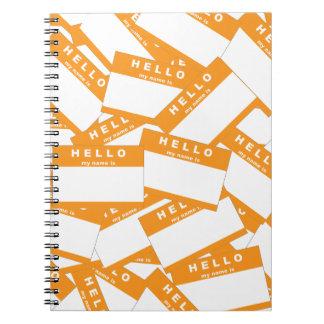 Cuaderno de la marfil de Merhaba (naranja)