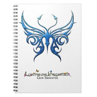 ¡Cuaderno de la mariposa de los azules claros!