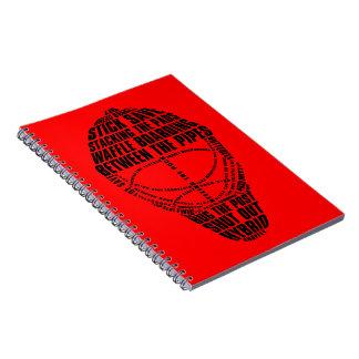 Cuaderno de la máscara del portero del hockey