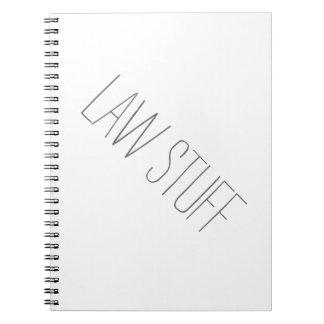 Cuaderno de la materia de la ley