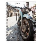 Cuaderno de la motocicleta del vintage
