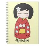 Cuaderno de la muñeca de Kokeshi