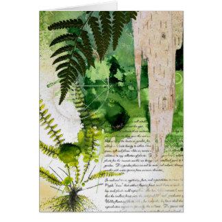 Cuaderno de la naturaleza de la tarjeta de