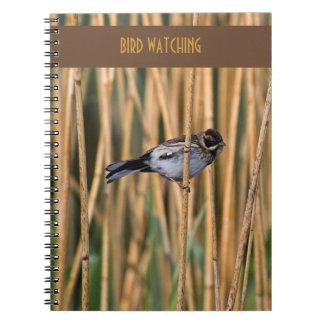 Cuaderno de la observación de pájaros del empavesa