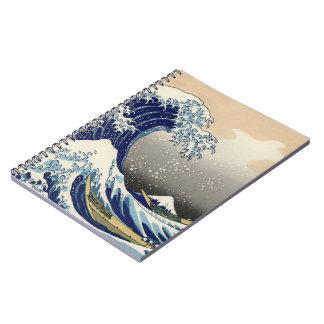 Cuaderno de la onda del japonés