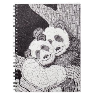 """Cuaderno de la panda de las """"sonrisas y de los abr"""