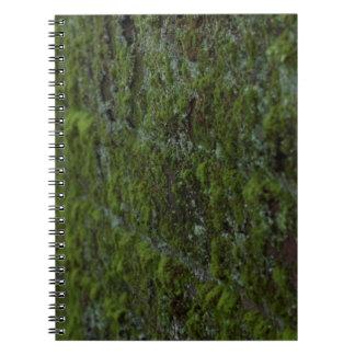 Cuaderno de la pared del musgo